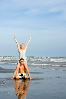 Free Young Couple At Beach Stock Photo - 9745230