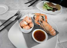 Free Prawn Platter Royalty Free Stock Photography - 9745377