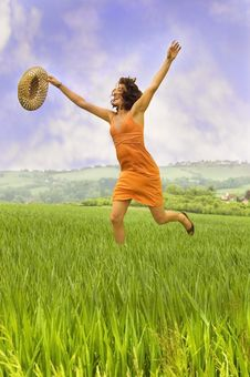 Free Happy Woman Stock Image - 9745581