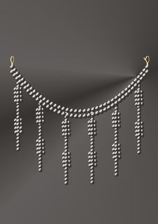 Free Necklace Under Black Pearls Stock Image - 9747091
