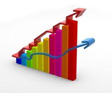Free Arrow Chart Royalty Free Stock Photography - 9747917