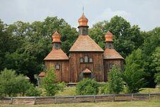 Free Ukrainian Church. Gate. Royalty Free Stock Image - 9748246
