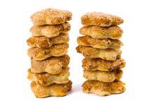 Free Two Stacks Of Cookies Royalty Free Stock Photos - 9748648
