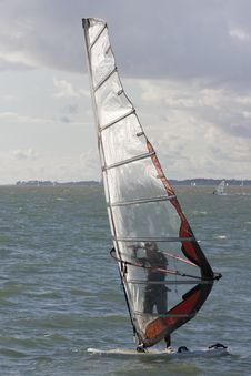 Free Windsurfing On The Solent Royalty Free Stock Photo - 9749225