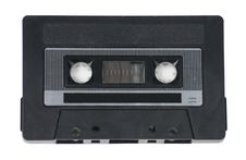 Free Audio Cassette Tape On White Royalty Free Stock Photography - 9749287