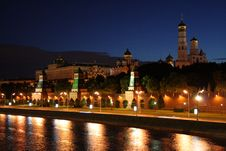 Free Kremlin At Night Stock Image - 9749331