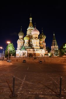 Moscow Cathedral At Night Stock Photography