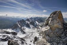 View From Below Valluga Summit Royalty Free Stock Image