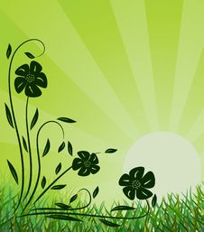 Free Ecological Background. Vector Illustration Stock Photos - 9749653