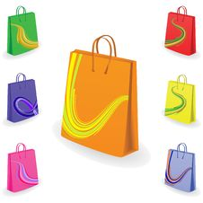 Free Collection Of Shopping Bags Royalty Free Stock Image - 9749666