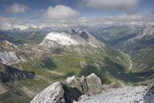 View From Valluga Summit Royalty Free Stock Image