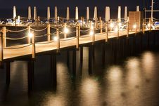 Night Pier Royalty Free Stock Image