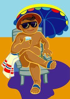 Free Beach Man Royalty Free Stock Image - 9749966