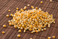 Free Corn Kernels On Bamboo Mat Royalty Free Stock Images - 9752679