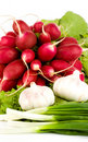 Free Spring Onions, Garlic, Lettuce And Radish Royalty Free Stock Photo - 9754485