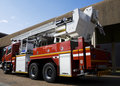 Free Fire Truck Rear Angle Royalty Free Stock Photography - 9756177