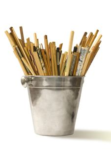 Free Various Chopsticks In Bucket For Champagne Royalty Free Stock Image - 9750746