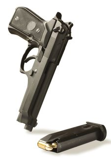 Free Handgun  And Magazine Stock Images - 9750774