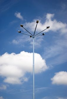 Free Electric Pylon And Blue Sky Stock Image - 9751971