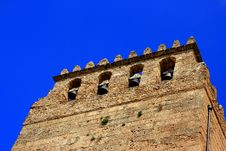 Free Bell Tower On Blue Sky, Monreale Cathedral Stock Images - 9753254