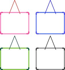 Blank Whiteboard Stock Images