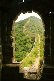 Free Framed View Of The Great Wall From A Tower Stock Image - 9754061