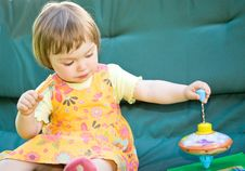 Free Baby In Garden Stock Photography - 9754112