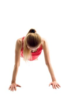 Free Blond Girl Doing Gymnastic Exercises Stock Photos - 9754243