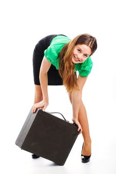 Free Woman And Attache Case Royalty Free Stock Photo - 9754335