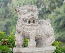 Free Stone Lion Royalty Free Stock Photos - 9754618