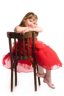 Free Girl On Chair Royalty Free Stock Images - 9754649
