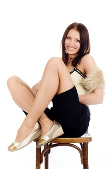 Free Girl On Chair Royalty Free Stock Photography - 9754657
