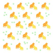 Free Kitty Cat Pattern Royalty Free Stock Photo - 9754915