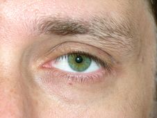 Free Man Green Eye Royalty Free Stock Image - 9755426