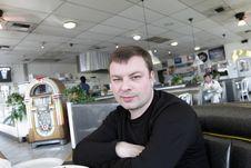 Man Waits A Breakfast Royalty Free Stock Image