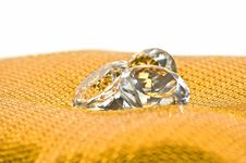 Diamonds On Golden Pattern Royalty Free Stock Images