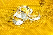 Diamonds On Golden Pattern Stock Images