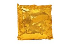 Free Golden Sparkling Pillow Royalty Free Stock Photo - 9756625