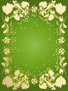 Free Vector Floral Frame Stock Photos - 9757533