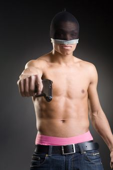 Free The Aggressive Young Man Royalty Free Stock Image - 9757626