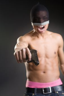 Free The Aggressive Young Man Royalty Free Stock Images - 9757629