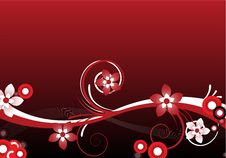 Free Red Floral Design Stock Photography - 9757812