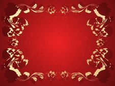 Free Vector Floral Frame Royalty Free Stock Photos - 9758008