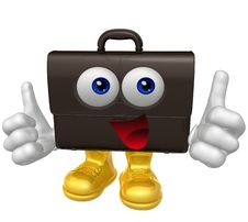 Free Mr Suitcase Mascot Character Stock Photos - 9758093