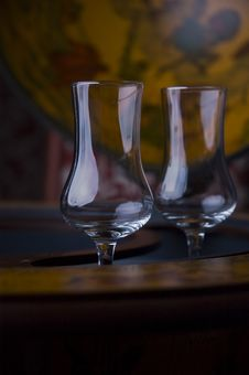 Free Glasses For Alcohol On A Bar Stock Photo - 9758310