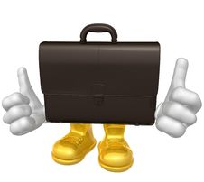 Free Mr Suitcase Mascot Character Royalty Free Stock Photos - 9758388