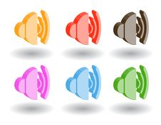 Free Color 3d Web Icons. Vector Illustration Royalty Free Stock Image - 9758806