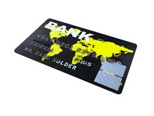 Credit Card Platinum Closeup Pictures Stock Photography