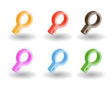 Free Color 3d Web Icons. Vector Illustration Royalty Free Stock Images - 9758859