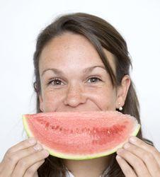 Free Melon Smile Royalty Free Stock Photos - 9759368